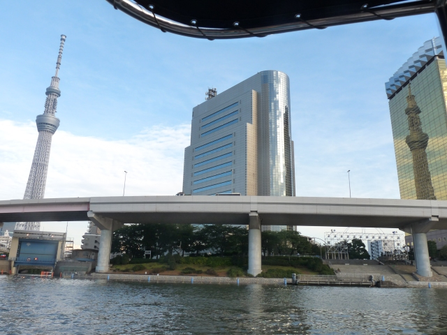 Tokyo Sky Tree as taken from Sumida River Cruise