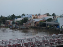 Homes along the river
