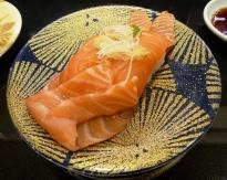 Huge, fresh pieces of salmon