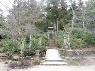 Shinomiya Shrine at the bottom