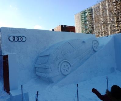 Audi Snow Car